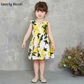 kids Girls Dress Summer baby Teenagers Sleeveless Print fruits Cotton Dresses Clothes For Girls 2016 Children kids vestidos
