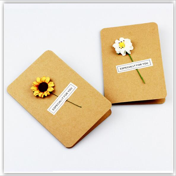 10pcslot diy creative pretty floral retro kraft paper handmade 10pcslot diy creative pretty floral retro kraft paper handmade christmas card greeting card new year blessing card in cards invitations from home m4hsunfo
