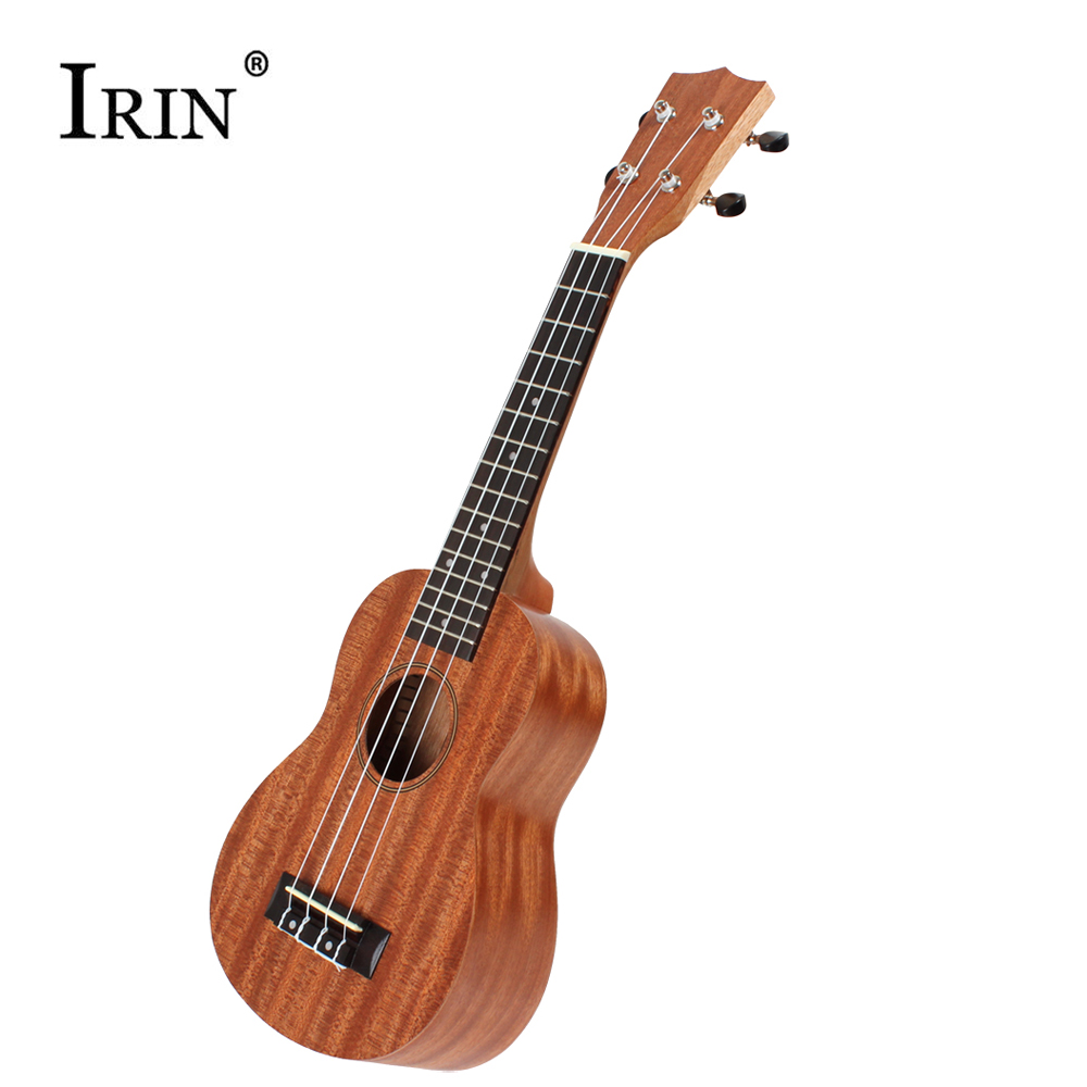 IRIN 21 Inch Soprano Ukulele Uke Sapele 15 Fret 4 Strings Rosewood Fingerboard Brown Ukelele Professional Musical Instrument