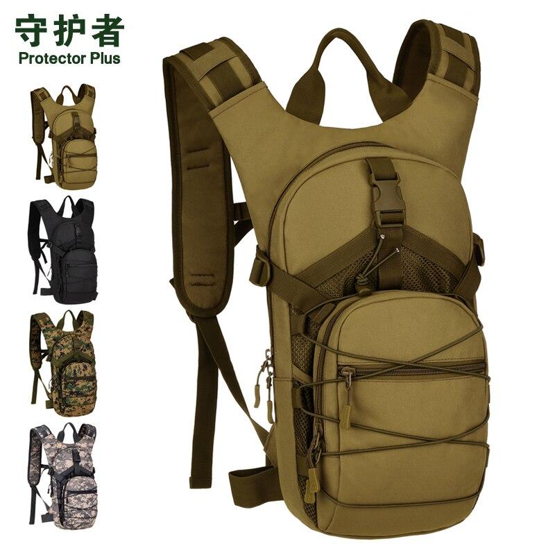 15L vélo vélo sac à dos Molle hommes femmes 1000D Nylon sac à dos armée Sport sacs en plein air 2.5L sac à eau sac à dos sac de pêche