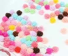 300 шт разноцветные с розами цветок из смолы кабошон камея закрепка