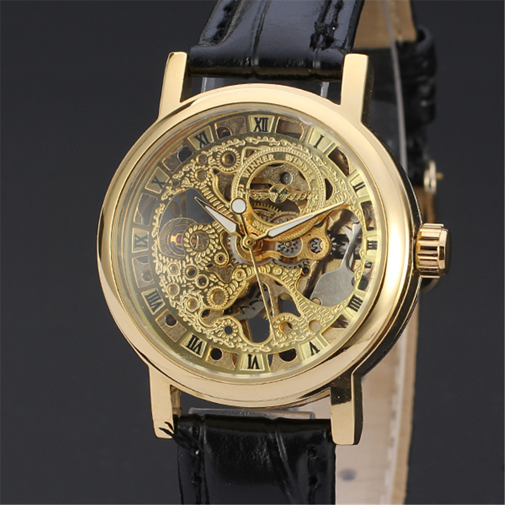 WINNER Fashion Casual Watch Automatic Mechanical Sport Classic Luxury Wrist Watches Women Lady Business Skeleton Royal Clock 103