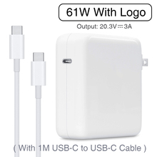 61W USB-C Power Adapter Type-C PD Charger With 1M USB-C Charging Cable For Latest Macbook pro 13 inch A1706 A1707 A1708 A1718