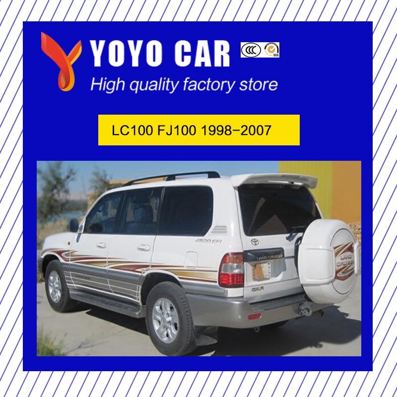 Лидер продаж, алюминиевый сплав привинчиваемый боковой направляющей Бар Багажник для Land Cruiser LC100 FJ100 1998 99 2000 01 2002 2003 04 05 06