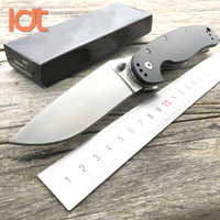 LDT Rat Model 1 Folding Knife 8Cr14Mov Blade Carbon Fiber Handl Hunting Camping Survival Knives Utility