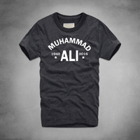 1 Muhammad Ali Printed T Shirt MMA Casual Clothing Men The Greatest Fitness Short Sleeve Top