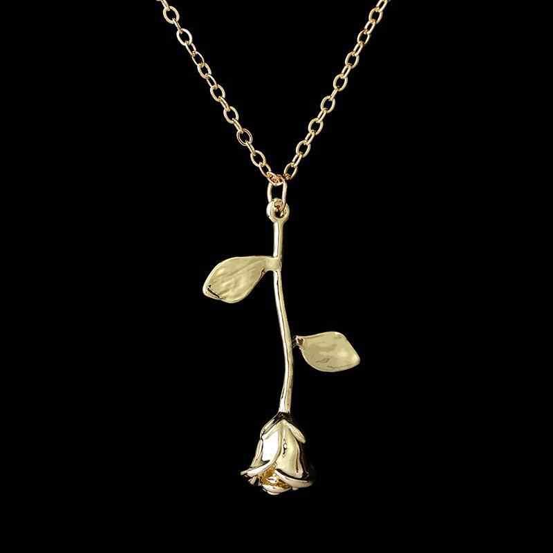 2018 nouveau bijoux exquis Rose pendentif collier pour envoyer petite amie saint valentin cadeau déclaration collier colliers et pendentifs