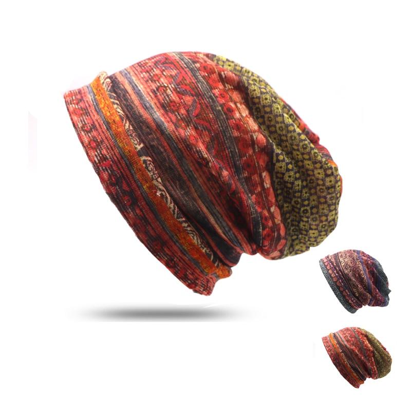 1pcs Thickening Pocket Turban Hat Cap Hip-Hop Cap Hat Turban Beanie Hats For Women Caps Autumn And Winter Bonnet Gorros Feminino autumn hip hop cap winter beanies men hats rock logo casual cap turban hat bonnet plus velvet caps for men beanie