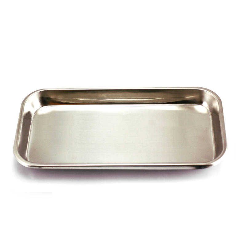 Kitchen Tray Square Storage Tray Dental Stainless Steel Medical Tools Tray Dish Nail Tattoo Dental Medical Device Supplies
