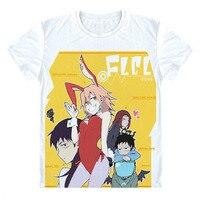 Anime Fooly Cooly T Shirt FLCL T Shirt Naota Mamimi Cartoon Short Sleeve Tee Tshirt New
