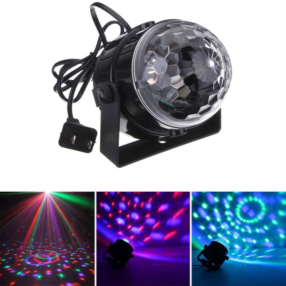 Mini RGB LED Crystal Magic Ball Effect Stage lights  Party Disco Club DJ KTV rg mini 3 lens 24 patterns led laser projector stage lighting effect 3w blue for dj disco party club laser