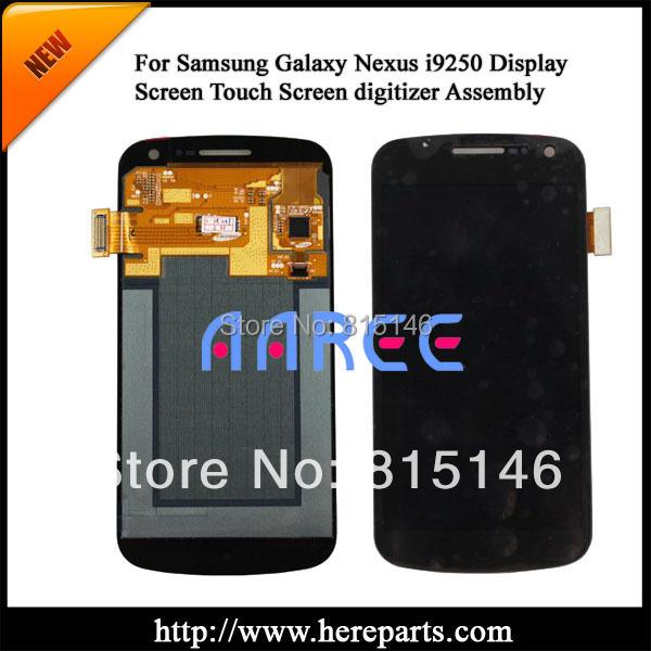 Prix pour Livraison gratuite lcd full display + écran tactile digitizer pour samsung galaxy nexus gt-i9250 --- noir