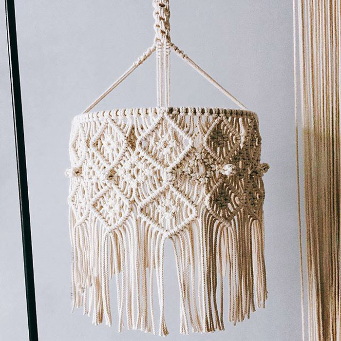 Bohemian Decor Macrame Tapestry Wall Hanging Hand-woven Chandelier Lampshade House Model Room Coffee Restaurant DecorationBohemian Decor Macrame Tapestry Wall Hanging Hand-woven Chandelier Lampshade House Model Room Coffee Restaurant Decoration