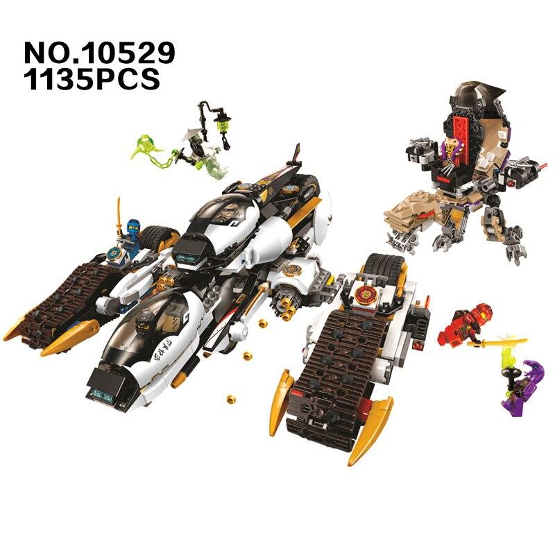 10529 1135 шт. ниндзя Окончательный секрет Raider 4 в 1 деформироваться колесница Бела строительный блок Совместимость 70595 Кирпич игрушка