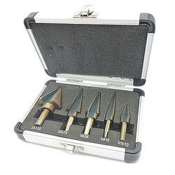 5 pcs Step Drill Bit Set Hss Cobalt Buraco Múltipla 50 Tamanhos SAE Passo Brocas 1/4-1-3/8 3/16-7/8 1/4-3/4 1/8-1/2 3/16-1/2 Brocas