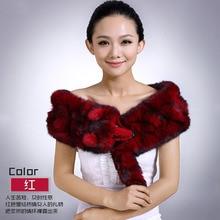 long scarf rex rabbit fur scarves Factory direct sale wholesale fur collar Korean thick winter fox female rabbit Scarf Shawl