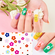 Nail Sticker Flower 3D Nail Stickers Decals DIY Design Nail Art Polish Decorations Sticker for Nail Manicure Tips nail sticker korea 3d nail sticker watermark applique phototherapy nail polish glue flower sticker white big sticker