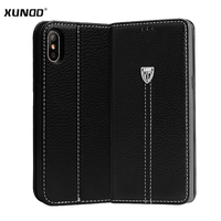 For IPhone 8 Case XUNDD Luxury Flip Magnetic Stand Vintage Leather Cover Case For IPhone 8