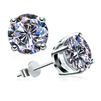 0 5CT Piece Earrings Classic Stud Simulate Diamond Earrings Sterling Silver White Gold Plated Earring Wedding.jpg 350x350 - 0.5CT/Piece Earrings Classic Stud Simulate Diamond Earrings Sterling Silver White Gold Plated Earring Wedding Earring for Women