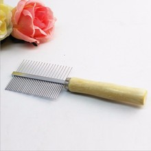 Многофункциональная расческа из нержавеющей стали для собак и кошек, Длинная Густая расческа для удаления волос, расческа для выпадения шерсти, щетка для ухода за шерстью