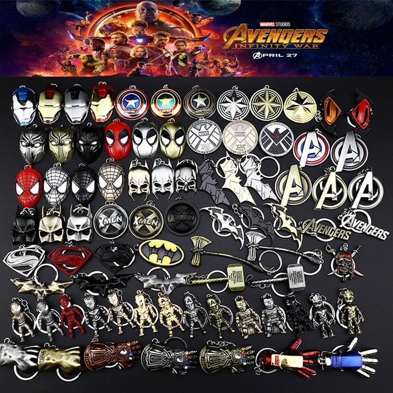 Avengers New Iron Man Tony Stark Keychain Marvel The Avengers 4 Endgame Quantum Realm Series Key Ring Car Key Chain