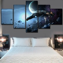 Wall Art Modular Picture Framework High Quality Canvas Print Poster Home Decorative Living Room 5 Piece Game EVE Online Painting все цены