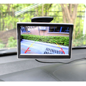 Image 2 - 5 Inch Car Reversing Camera Kit Back Up Car Monitor LCD Display HD Car Rear View Camera Parking System transmitter wireless