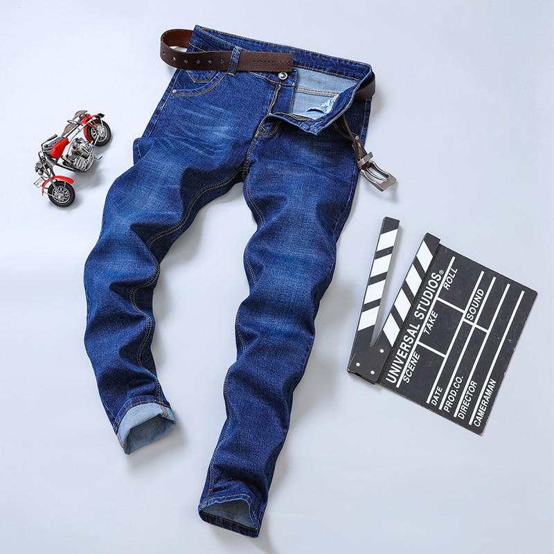 2019 Autumn Spring Mid Weight Men Casual Biker Denim Jeans Stretch Denim Pants Solid Slim Fit Jeans Male Street Skinny Pant