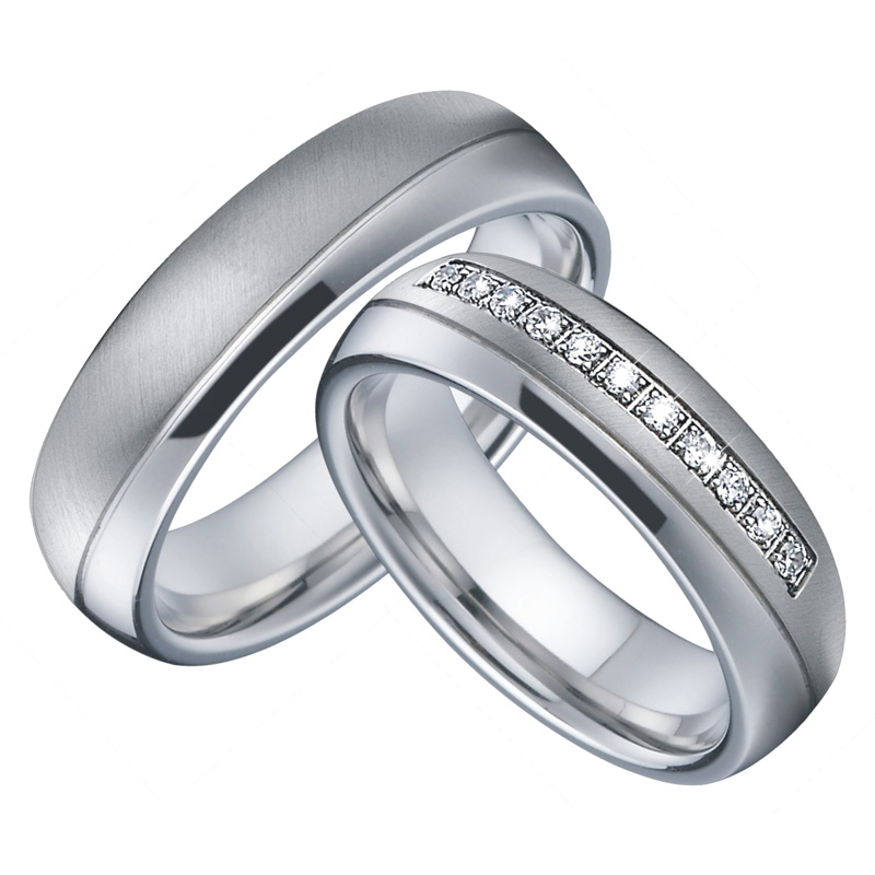 Miglior acquisto ) }}Mens Wedding Band Engagement Rings Silver Color anillos mujer bague femme Alliance