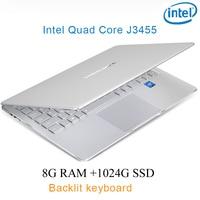 "intel celeron כסף P9-20 8G RAM 1024G SSD Intel Celeron J3455 23"" מחשב שולחני מחברת משחקים ניידת עם מקלדת מוארת (1)"
