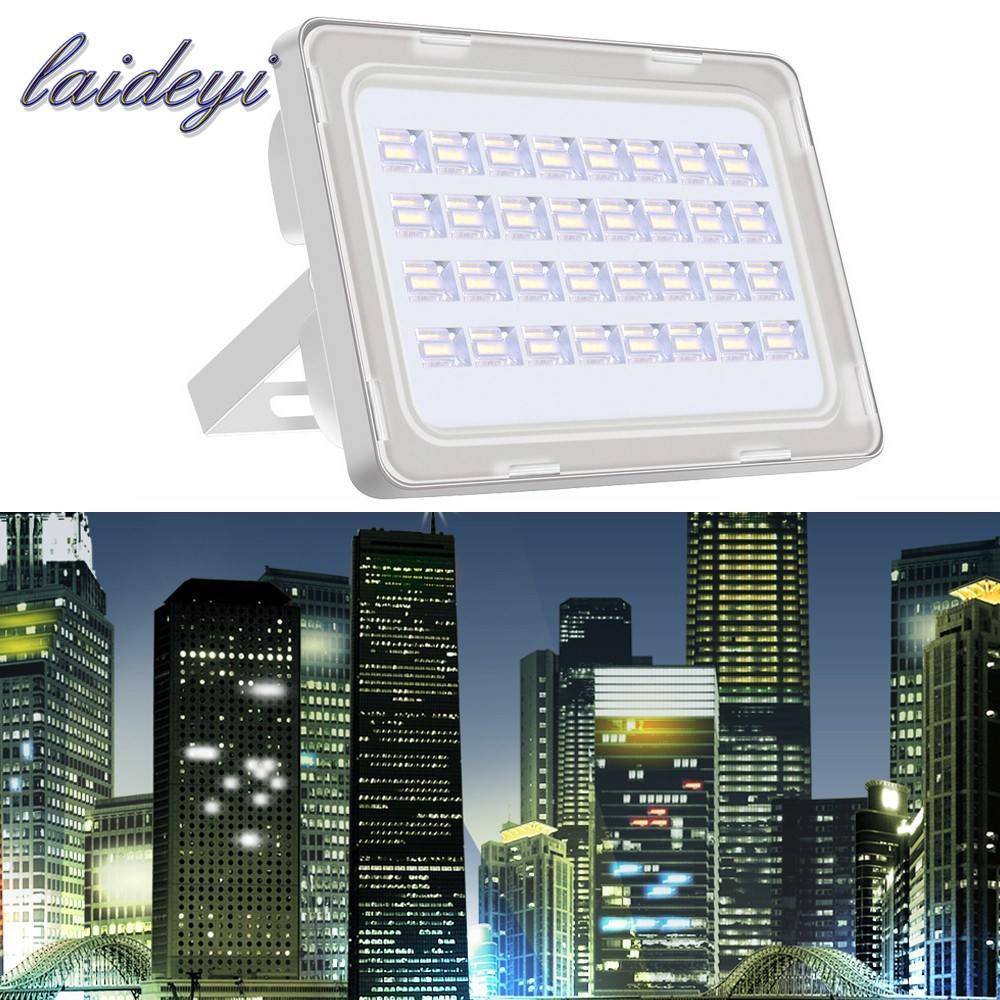 2stk NY 100W LED Flood Lights AC200-240V 9000lms Super Bright Floodlight Outdoor IP65 Vandtæt LED Flood Lamp 100 Watt