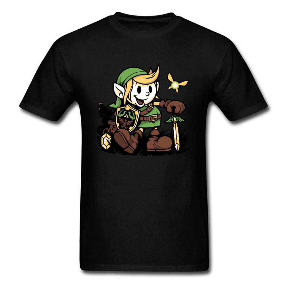 Zelda T Shirt Vintage Link Tops Men T-shirt Legend Of Zelda Top Clothing Teens Game Tshirt Black White Tees For Warrior