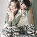 9 Estilos Par Pijama de Corea Del Amor ropa de Dormir Pijamas Hombres Mujeres Pareja Hombre de Bellas Damas de Manga Larga Pijamas de Dibujos Animados Pijamas