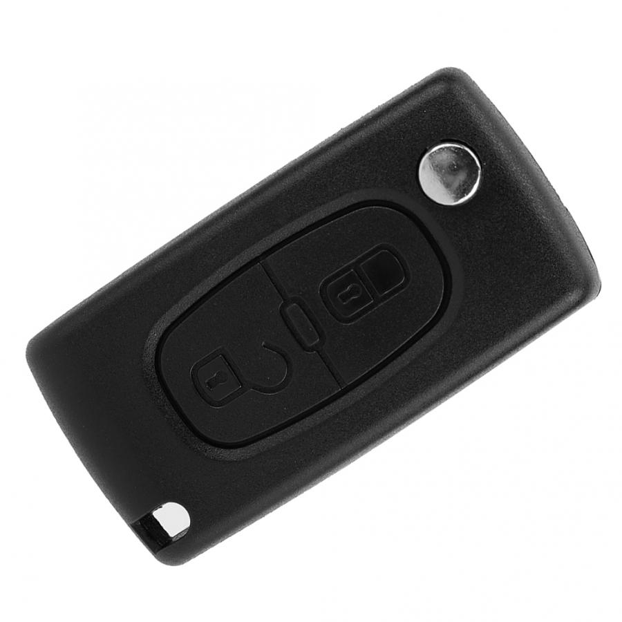 <font><b>Key</b></font> Case for Car 2 Button Remote <font><b>Key</b></font> Fob Case Shell <font><b>Cover</b></font> Fit For <font><b>PEUGEOT</b></font> 2008 <font><b>3008</b></font> 5008 Car Styling <font><b>Key</b></font> Fob Case image