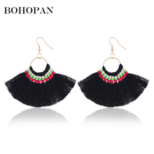 Tassel Earrings For Women Bohemian Vintage Ethnic Fringe Drop 6 Color Dangle 2018 New Design Charm Jewelry Party Brinco