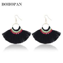 Tassel Earrings For Women Bohemian Vintage Ethnic Fringe Drop Earrings 6 Color Dangle 2018 New Design Charm Jewelry Party Brinco charm fringe design drop earrings