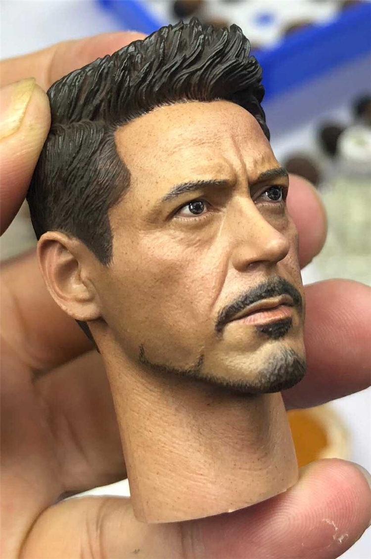 "Custom 1//6 Iron Man Tony Stark Head//Glasses// Body  Sculpt For 12/"" Hot Toys"