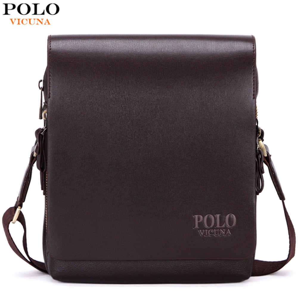 купить VICUNA POLO New Arrival Fashion Business Leather Men Messenger Bags Promotional Small Crossbody Shoulder Bag Casual Man Bag онлайн