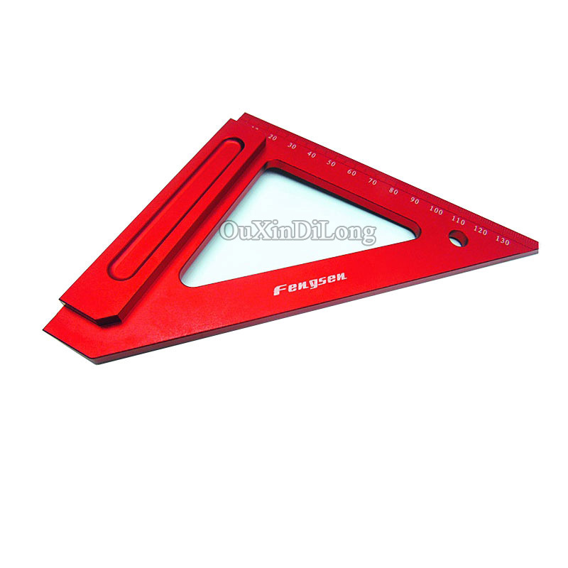 Free Shipping Aluminum woodworking crossed triangle ruler,gauge tool free shipping kapro 810 clamp device laser infrared horizontal marking ruler