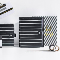 Dokibook Striped A5a6 Spiral Notebook Personal Planner Organizer Diary Binder Schedule Book Stationery Office School Supplies
