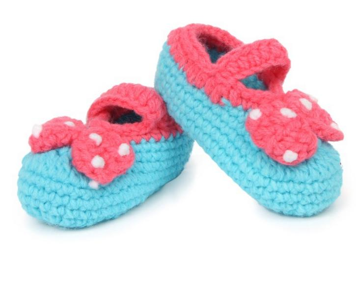 10 Pairs/lot Cute Soft Baby Girls Decoration Flowers Manual Knitting Toddler Shoes Children's Crib Shoes 11cm Wholesale