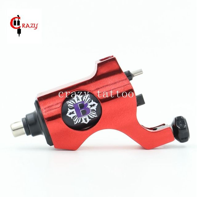 2016 Hot Sales New Rotary Tattoo Machine Bishop Style Professional Red Color Tattoo Machine For Liner & Shader Free Shipping