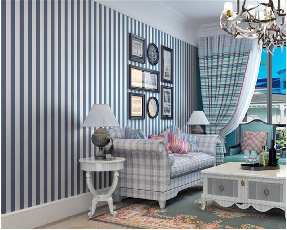 beibehang papel de parede Mediterranean stripe wall paper and black and white simple and non woven wallpaper wall 3d wallpaper beibehang mediterranean style cartoon kids room wallpaper navigation boys bedroom wall paper non woven papel de parede infa