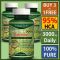 Buy 3 Get 1 Free GARCINIA CAMBOGIA EXTRACT HCA 95% ALL NATURAL PURE WEIGHT LOSS FAT BURN 2000mg Daily