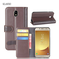 KLAIDO Genuine Cow Leather Case For Samsung Galaxy J7 2017 Eurasian Version Luxury Back Cover For