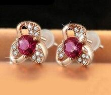 New Brand Wholesale Fashion Crystal Earrings pendientes mujer Jewelry Oorbellen Zircon Piercing Stud Earrings For Women
