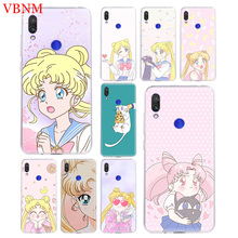 Sailor Moon Girl TPU Accessories Case for Xiaomi Redmi Note 6 7 S2 GO 4 4X 5 5A Pro Gift Fit Pattern Customized Coque Cases