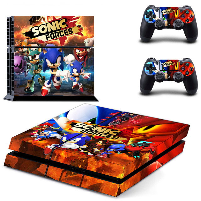 US $8 27 8% OFF|Sonic Forces PS4 Skin Sticker Decal for Sony PlayStation 4  Console and 2 Controller Skin PS4 Sticker Vinyl Accessory-in Stickers from
