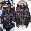 Материнства Европа 2016 новая зимняя куртка беременных женщин большие ярдов плюс бархат теплой моды плед хлопок беременных женщин вниз пальто