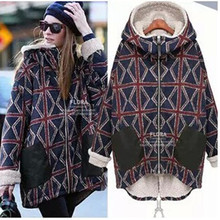 Maternity Europe 2016 new winter jacket pregnant women big yards plus velvet warm fashion plaid cotton pregnant women down coat(China)